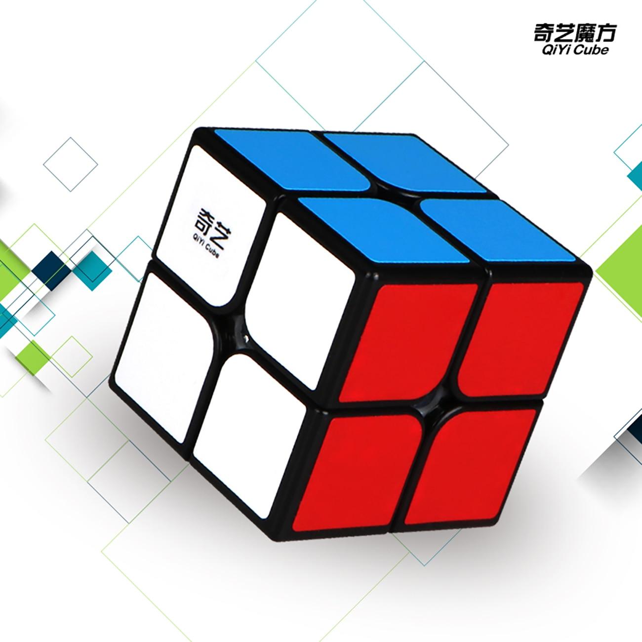 Cheapest QiYi 2x2x2 Magic Cube Sail W Professional Qidi S 2x2x2 3x3 Speed Puzzle 2x2 Cubo Magico Educational Toys qiyi sail w 3x3x3 magic cube speed cubes puzzle neo cube 3x3 cubo magico educational toys professional 3x3 speed cube