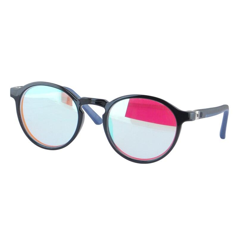 SHINU-نظارات تصحيح دائرية ملونة للأطفال ، نظارات طبية للجنسين ، رؤية اللون الأحمر والأخضر