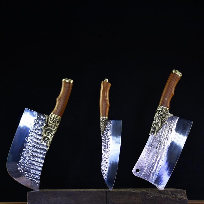 Little cooker-مجموعة من سكاكين الشيف ، بشفرة ثابتة ، سكين اللحوم ، الساطور ، الخضار ، الملحقات ، الأدوات