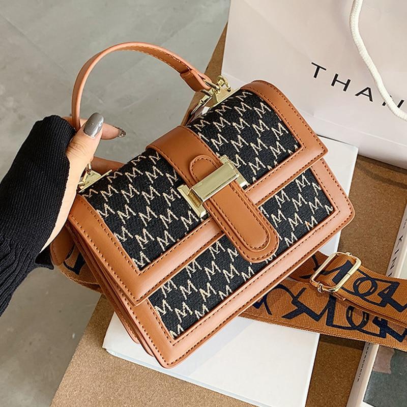 Vintage Shoulder Flap Bags For Women Fashion Small Cross Body Brand Designer Lady PU Scrub Leather Crossbody Bag Luxury Handbag