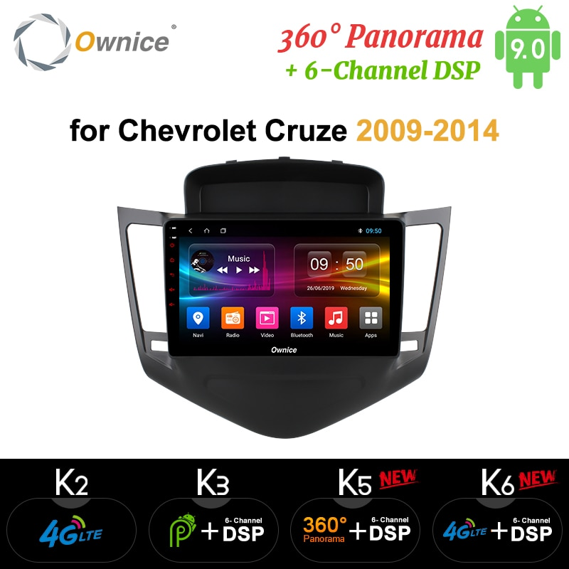 Ownice 2din Android 9,0 coche dvd GPS para Chevrolet Cruze 2009-2014 k3 k5 k6 Octa Core 360 Panorama DSP 4G LTE SPDIF Radio de coche