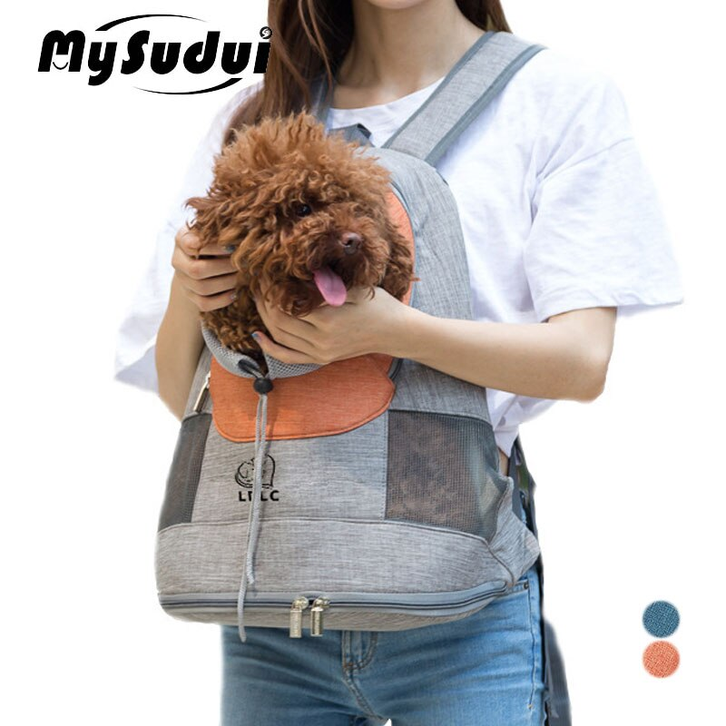 MySudui переноска для домашних животных, кошек, собак, рюкзак, дышащая дорожная сумка для маленьких собак, щенков, сумка для переноски на плечо, ...