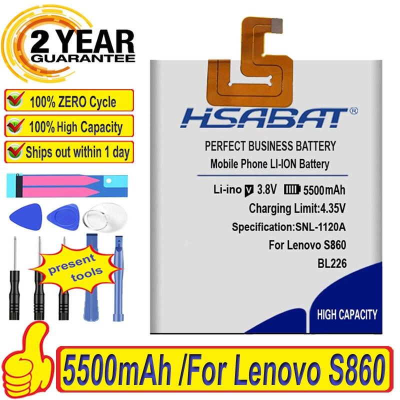 Аккумулятор HSABAT 5500 мАч BL226 для Lenovo S860 battery for lenovo s860 battery for lenovobattery for   АлиЭкспресс
