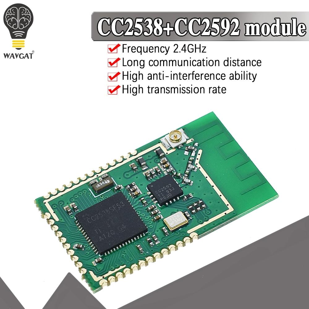 Cc2538sf53rtqr cc2538 cc2592 pa zigbee módulo sem fio cc2538sf53 alta potência 2.4ghz módulo sem fio