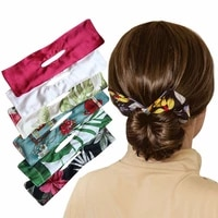 women print hairpin braider maker simple to use accessories deft bun bow bow knot hair bands summer knotted wire headband