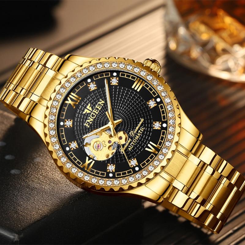 New Luxury Men Mechanical Watches Automatic Self-Wind Relogio Masculino Waterproof Wrist Clock Lumin