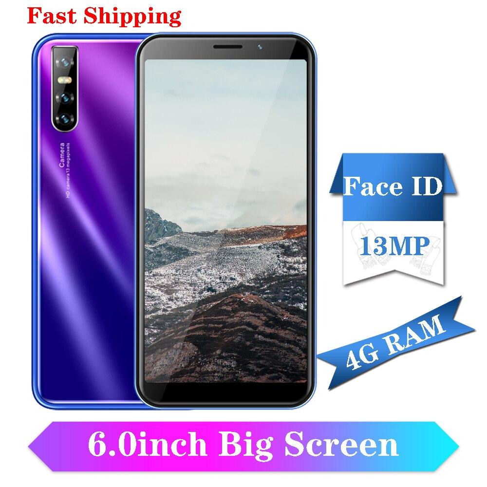 "Y9 Smartphones 4G RAM 64G ROM Globale version 3G Gesicht ID Entsperrt Celulares Android Handys 13MP quad Core 6.0 ""Bildschirm 189"