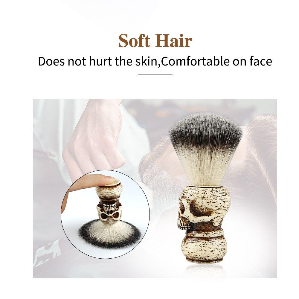 Barber Shop Shaving Brush Foaming Soap Bowl Men Facial Beard Brush Cleaning Tool Shaving Soap Bowl Shaving Tools Beard Brush Set