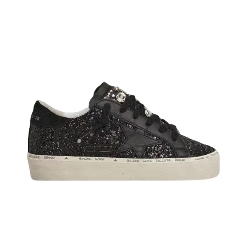 Autumn and Winter New First Layer Cowhide Distressed Dirty Parent-child Sneakers Star Fashion  Breathable Children's Shoes QZ61 enlarge