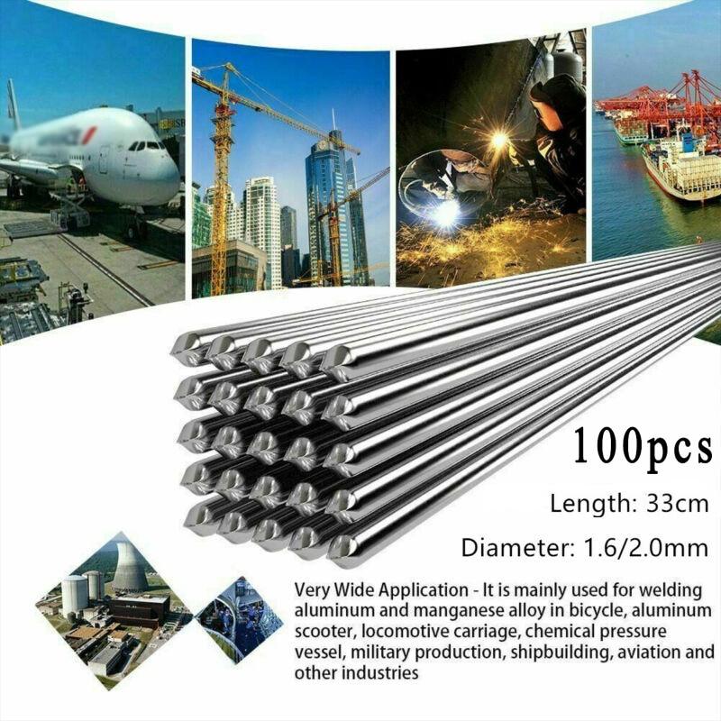 100 pces 1.6/2.0mm de alumínio fusível magnésio fácil derretimento fluxo solda fio cored brasagem soldagem acessórios