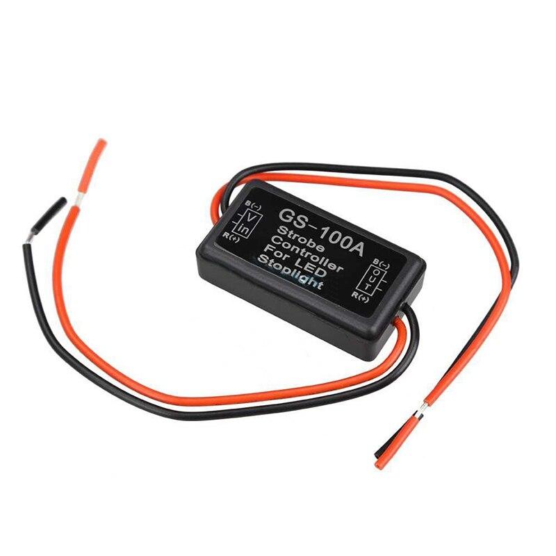 Traseira-end impedindo strobe carro controlador 12 v gs100a led freio parar luz módulo caixa de aviso lâmpada segura