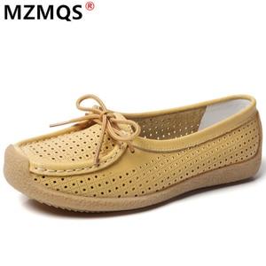 Women's Flat Shoes Summer Women's Low-heeled Casual Shoes Woman Peas Shoes Light Shoes Soft Sole Women Shoes Large Size 35-42