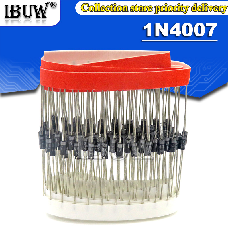 100PCS 1N4007 4007 1A 1000V DO-41 High quality Rectifier Diode IN4007 1n4007