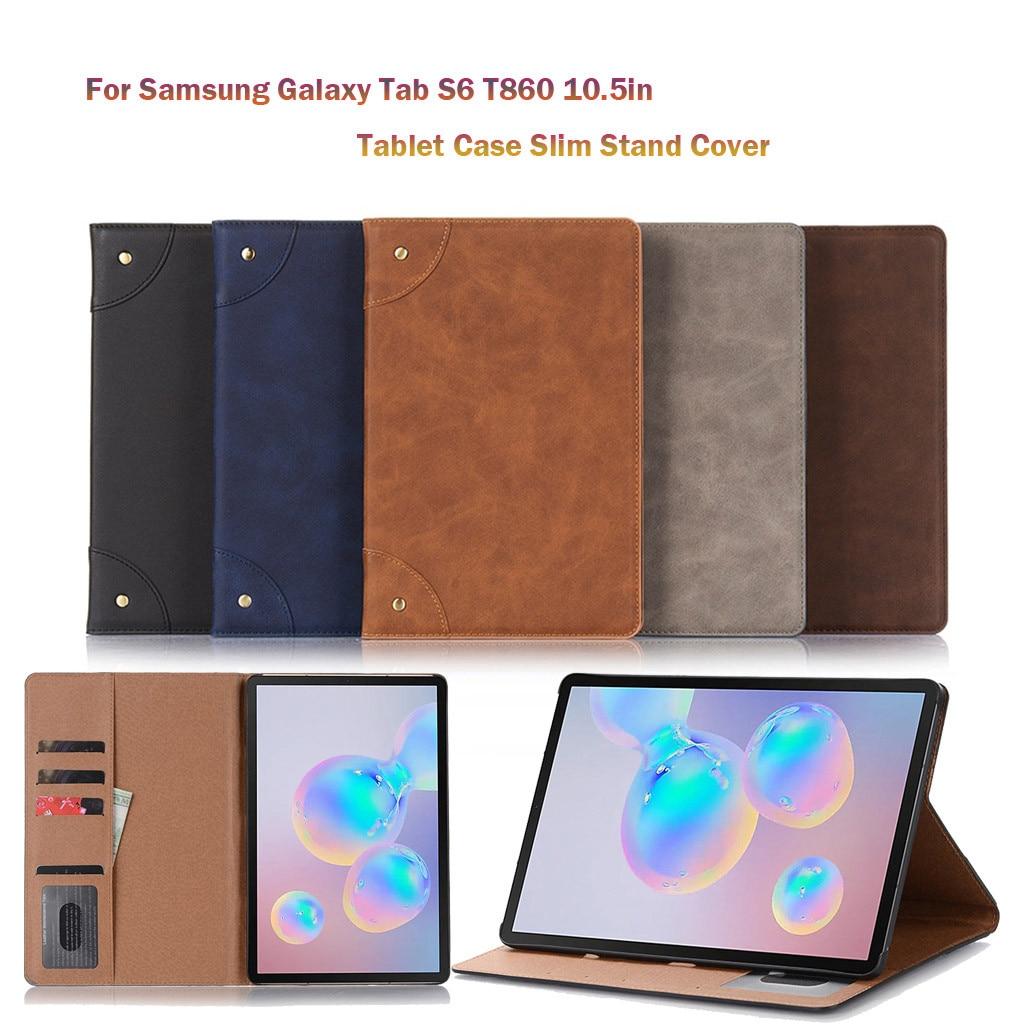 Case da Tabuleta para Samsung 10.5in com Suporte de Cartão de Armazenamento Galaxy Negócios Magro Suporte Capa Tablet Case Tab s6 T860 T865