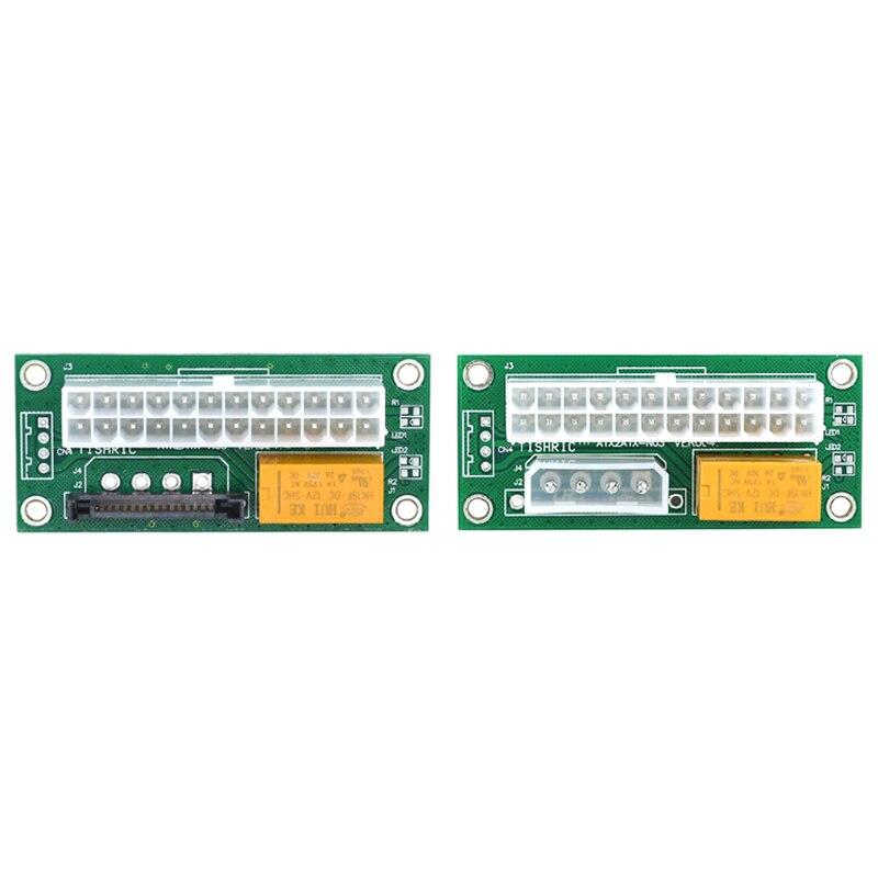10 قطعة المزدوج PSU امدادات الطاقة مزامنة محول ad2psu ATX 24Pin إلى موصل موليكس الناهض بطاقة التعدين التعدين BT