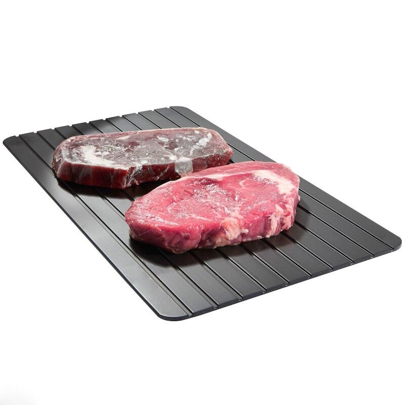 Plateau dégivrant rapide   Dégivrant rapide, décongélation congelée antiadhésif Bar de cuisine, aliments viande boeuf glace légumes dégivrant plaque planche outil de cuisson