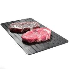 Schnelle Abtauen Tablett Tauwetter Gefrorene Nicht-Stick Küche Bar Lebensmittel Fleisch Rindfleisch Eis Gemüse Abtauung Abtauen Platte Bord Kochen werkzeug