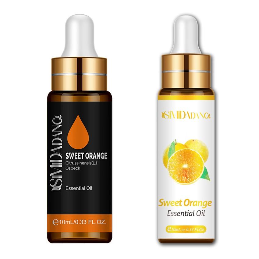 10ML Sweet Orange Essential With Dropper Diffuser Aroma Oil Diffuser Pure Natural Body Massage Essen