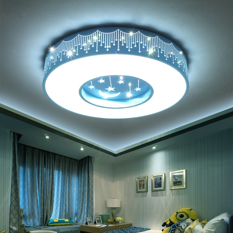 Lámpara led de techo para dormitorio de niños, Luces de decoración nórdica...