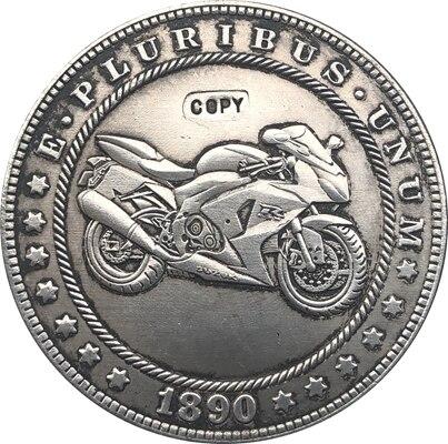 Hobo Nickel, 1890-CC, dólar Morgan de EUA, copia de moneda, tipo 138