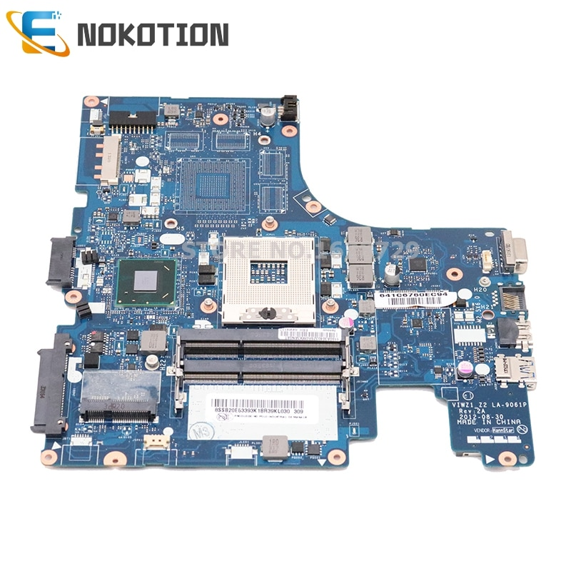 NOKOTION لينوفو ideapad Z400 اللوحة المحمول LA-9061P REV 2A 14.1 ''HM76 GMA HD4000 DDR3 كامل اختبار