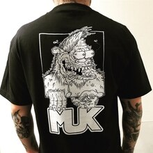 Bigfoot Cogumelos Muk skates Camiseta Tamanho Grande estilo Rat fink
