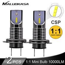 2 pièces LED H7 phare ampoule CSP puce LED Canbus voiture lumière 10000LM/ampoule 50W H9 H11 Mini HB3 HB4 ligne de coupe 12V 24V voiture style
