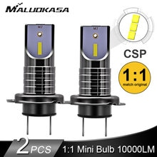 2PCS LED H7 Scheinwerfer Birne CSP Chip LED Canbus Auto Licht 10000LM/Birne 50W H9 H11 Mini HB3 HB4 Schneiden Linie 12V 24V Auto Styling
