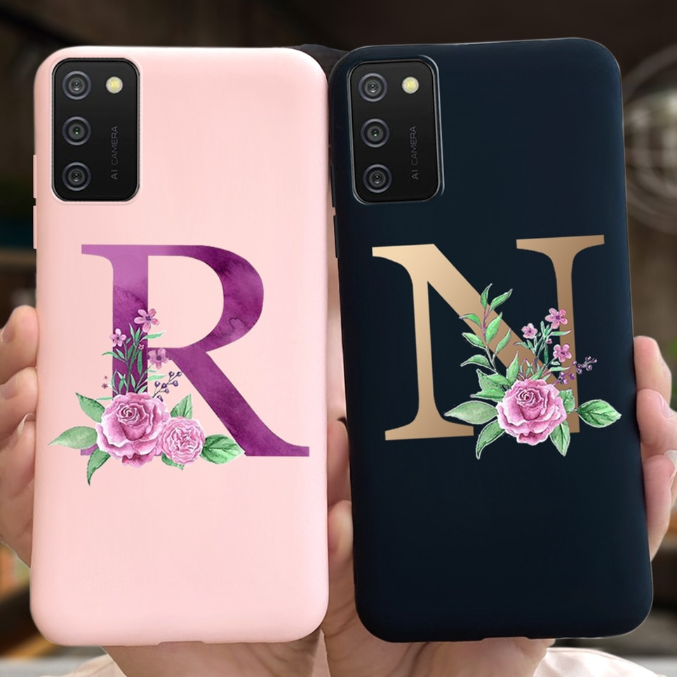For Samsung A03s Case Soft Slim Cute 26 Letters Back Cover For Samsung Galaxy A03s A03 S A035F Phone Cases Bumper Luxury Silicon