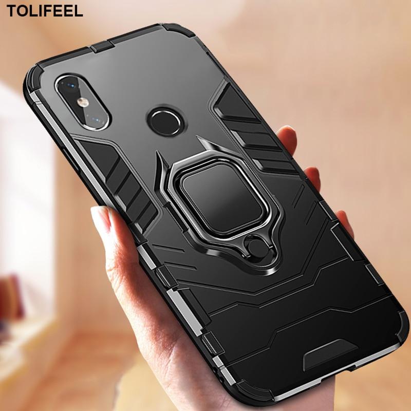 Shockproof Armor Case For Xiaomi Mi 8 Lite Mi8 SE Cases Stand Holder Magnetic Car Ring Phone Back Co
