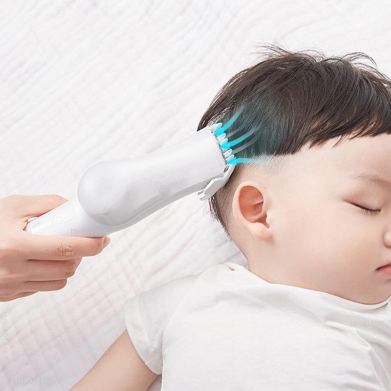 Automatic vacuum hair trimmer baby hair clipper mute waterproof detachable Electric Ceramic Cutter Clipper
