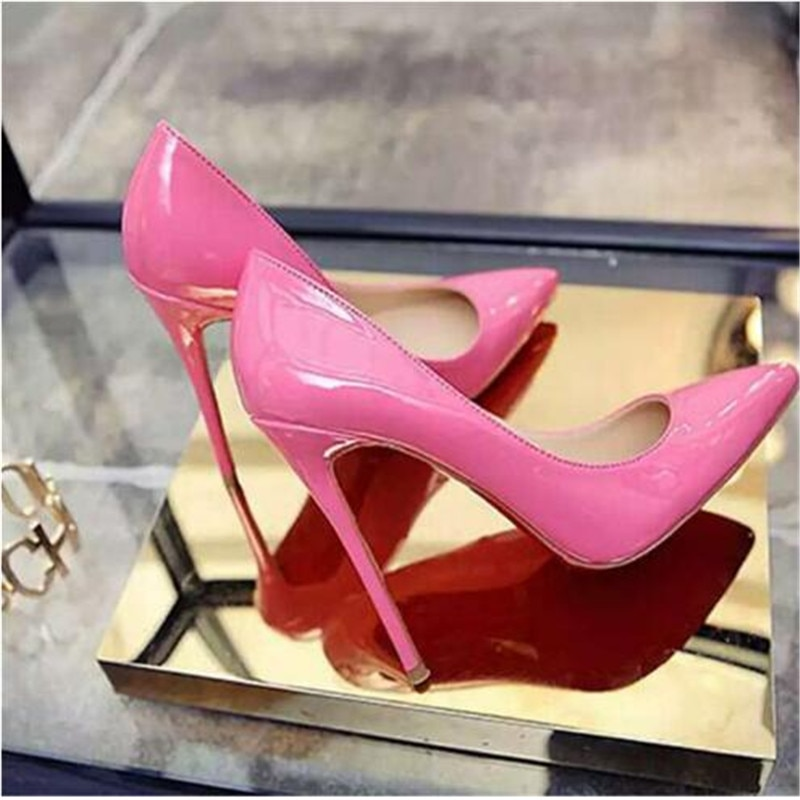 women white wedding bride bridal shoes woman sexy stiletto high heeled pumps ladies high heels shoes plus size 33 47 elissara Women Pumps High Heels Black Leather Pointed Toe Sexy Stiletto Shoes Woman Wedding Shoes Ladies Plus Big Size 11 12 13