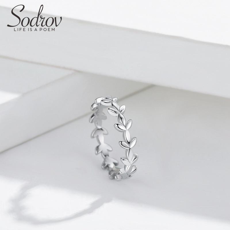 Wheat Ear Ring Silver 925 Jewlry Silver Rings For Women US Size 7 Jewelry