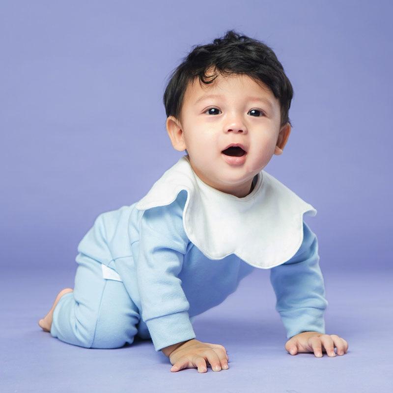 Слюнявчик для младенцев 0-36 м, удобное мягкое Хлопковое полотенце с поворотом на 360 градусов, однотонный, впитывающий кармашек для риса