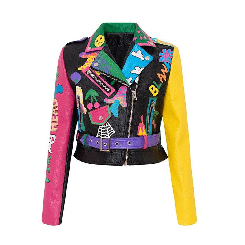 Dibujo grafiti Crash-colour Badge, locomotora, monja, Show, fino corto, Tops, Mujer, chaqueta,...