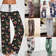 38 color S-3XL Yoga Fitness Women Floral Yoga Palazzo Trousers Wide Leg Pants Loose Sport Harem Pant