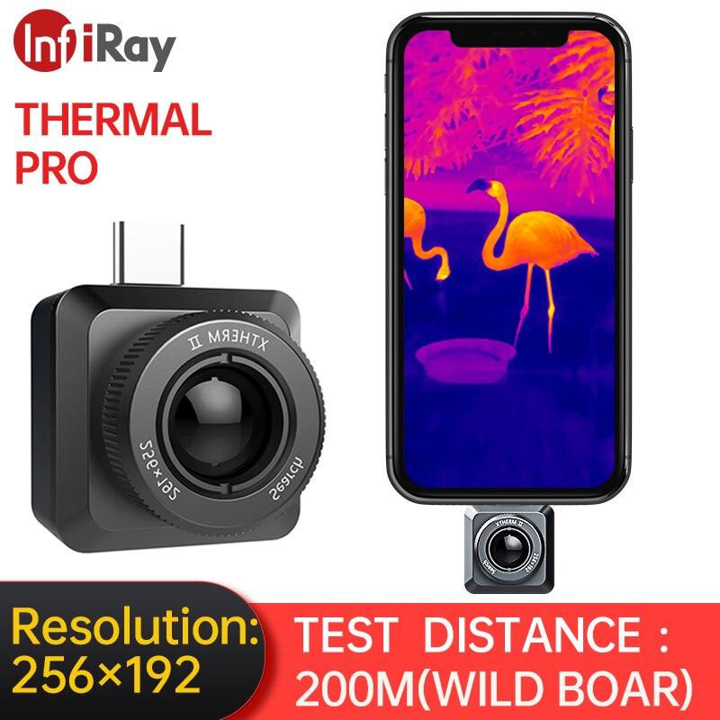 InfiRay كاميرا حرارية T2-Search الأشعة تحت الحمراء كاميرا تصوير الحرارية للصيد في الهواء الطلق للرؤية الليلية زاوية واسعة HD مراقبة الهاتف المحمول