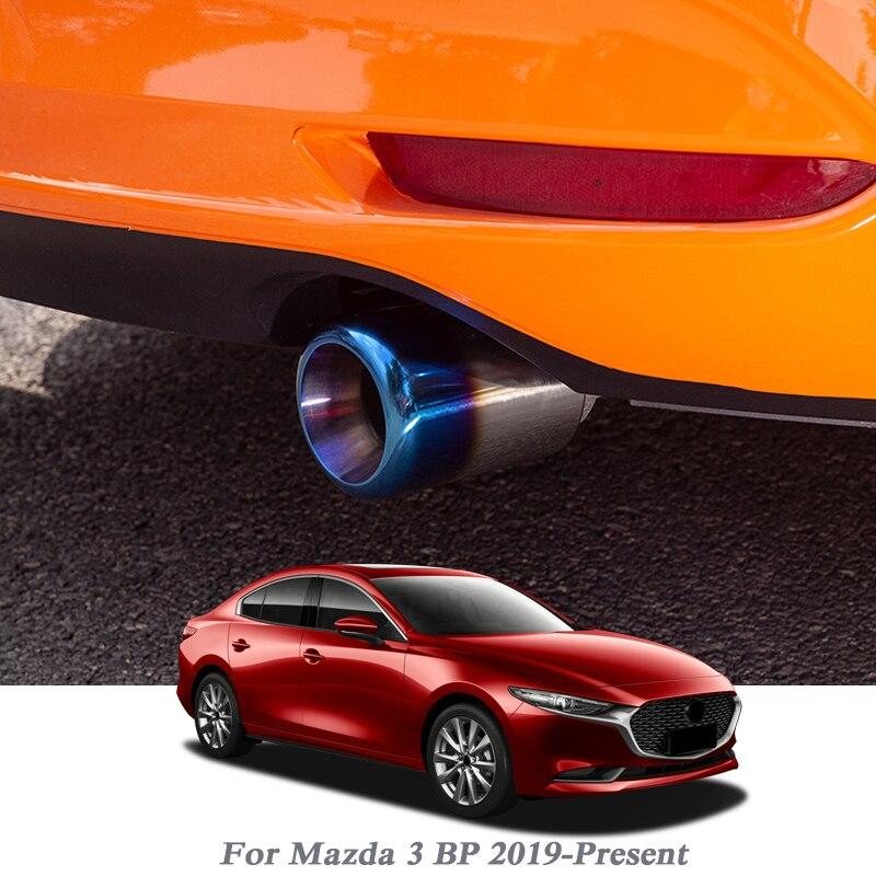 2 uds. Estilo de coche para Mazda 3 BP 2019-presente silenciador de escape para coche ajuste de punta modificado para la garganta trasera del coche