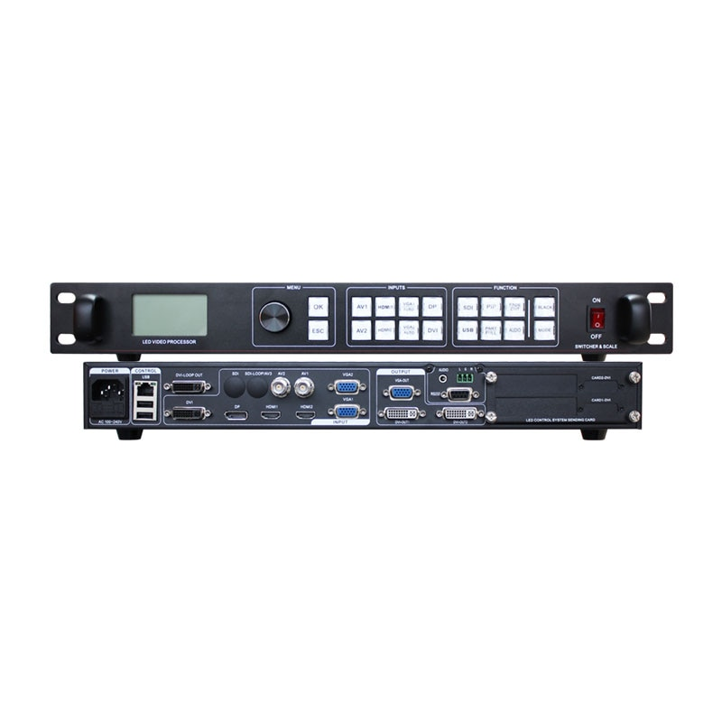 Amoonsky LVP915 LED Video Processor Scaler 3840*640 Support 2 Sending Cards VGA HDMI-compatible Video Wall Controller