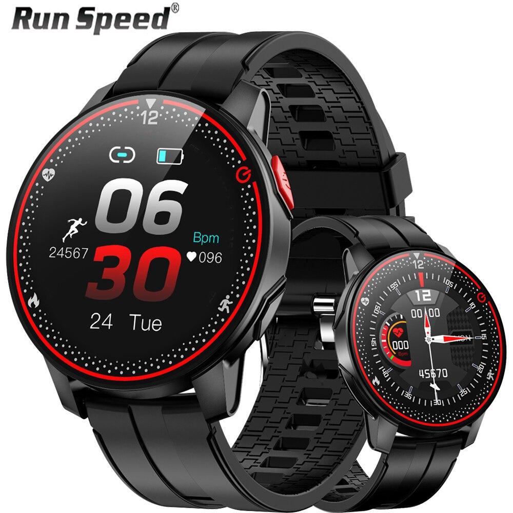Reloj inteligente RunSpeed R18 para hombre IP68, Monitor de ritmo cardíaco resistente al agua, 9 modos de deporte, reloj inteligente para mujer para Android IOS