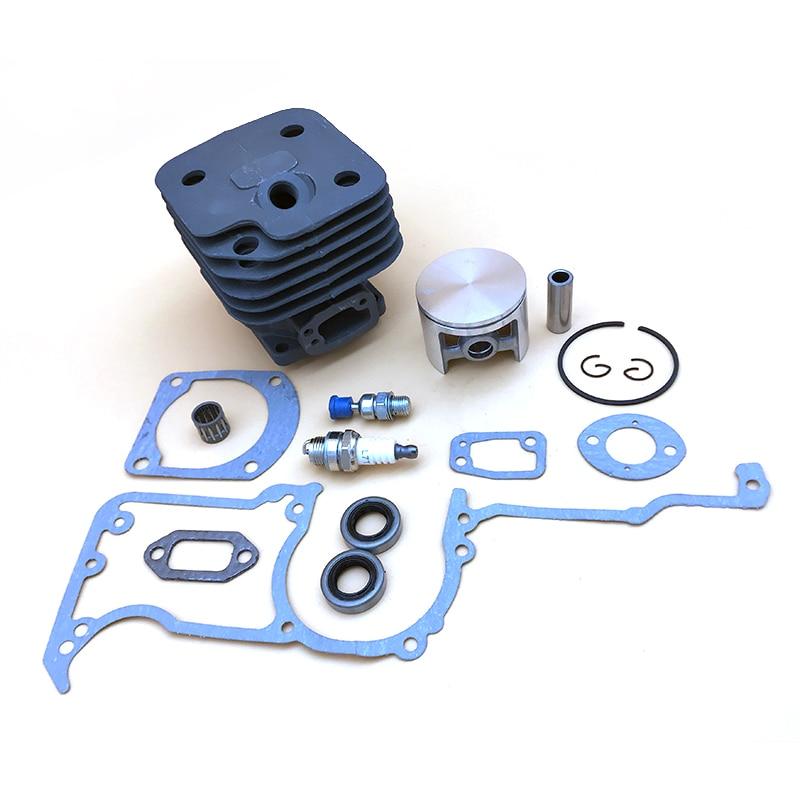 HUNDURE 48MM 50MM 52MM Cylinder Piston Ring Gasket Oil Seal Valve Kit For HUSQVARNA 61 268 272 272K 272XP Chainsaw Parts