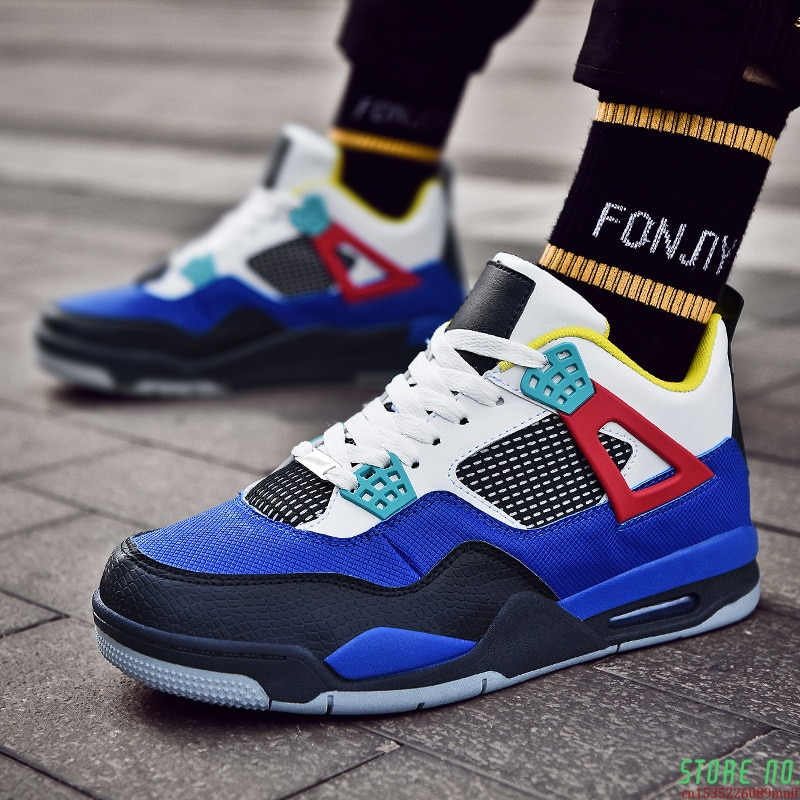 Brand Men Basketball Shoes Leather Air Superstar Sneakers Thick Sole Top Male Sports Shoes Rubber Mens Trainers Shoe Man Basket