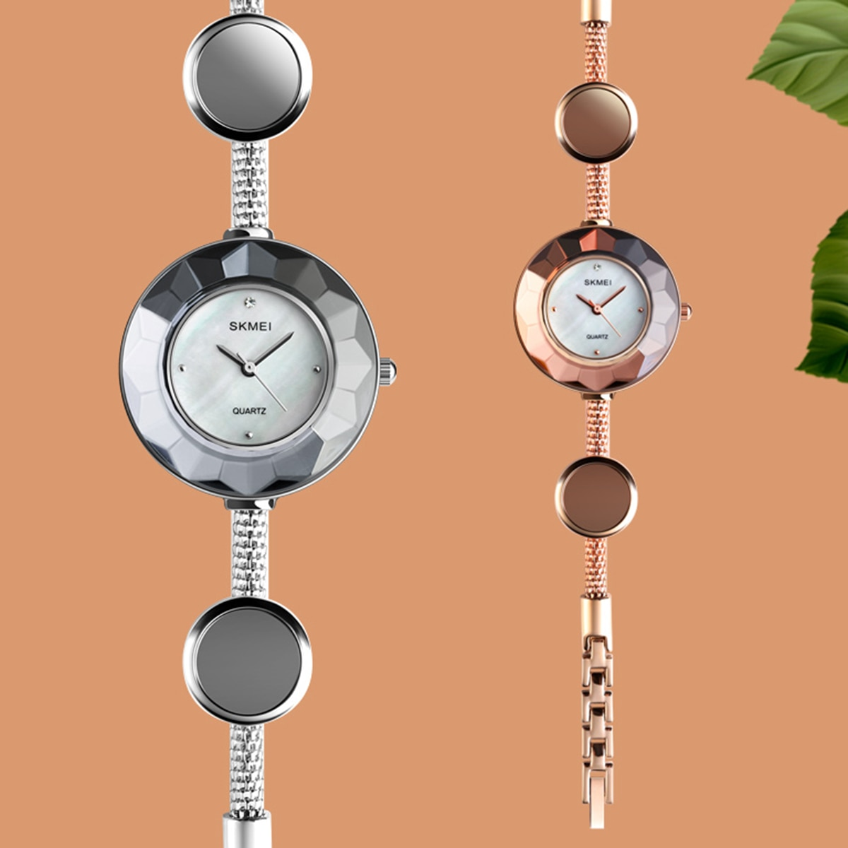New Women Fashion Quartz Wrist Watch Waterproof Casual Simple Dress Watch with Bracelet Strap Ladies Wrist Watch
