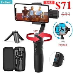 Ручной Стабилизатор Hohem iSteady Mobile Plus, 3-осевой Ручной Стабилизатор для смартфонов iPhone 11/11 Pro/X XS samsung S10, S9, Note 9/8