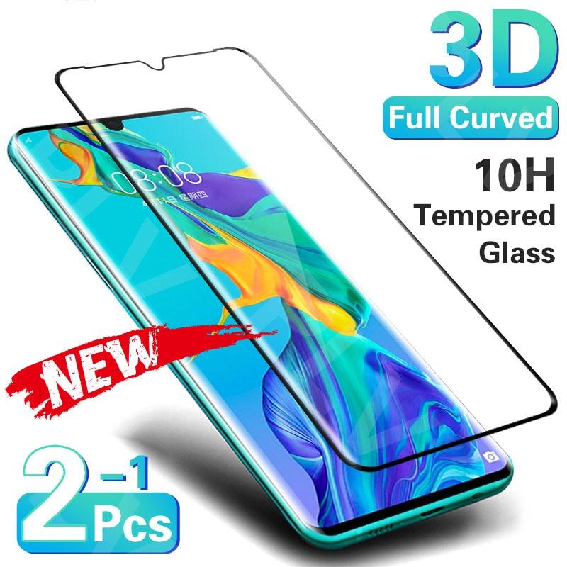 3D изогнутое закаленное стекло для защиты экрана для Huawei P30 P40 Pro P20 Lite, закаленное стекло для Huawei Mate 20 Pro 30 Lite