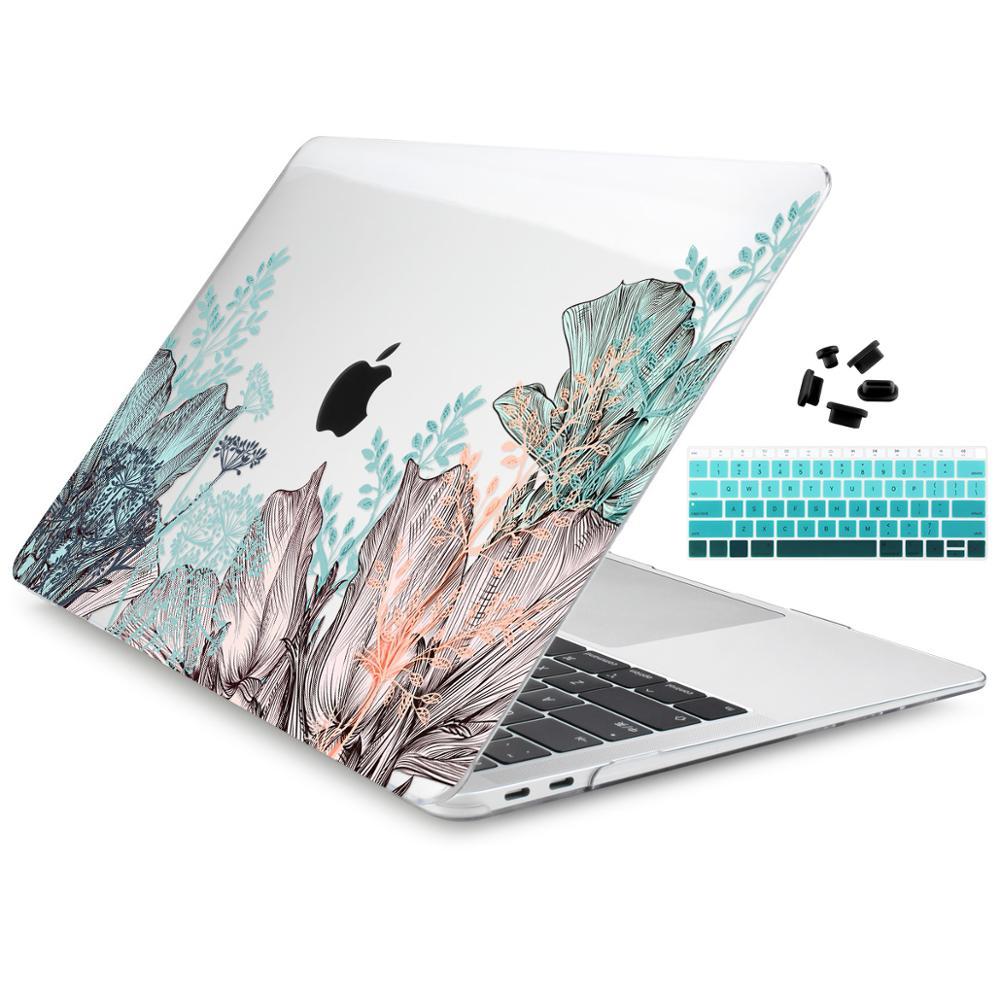 """Estilo floral caso para macbook ar 11 12 pro retina13 15 portátil capa saco mac livro 13.3 15 """"16 barra de toque a2251 ar 13 2019 2020"""