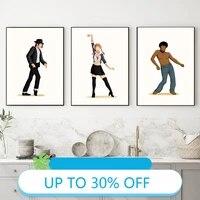 Affiches de peinture sur toile  les gens dansent ensemble  tableau dart mural pour decoration de salon  decoration de maison