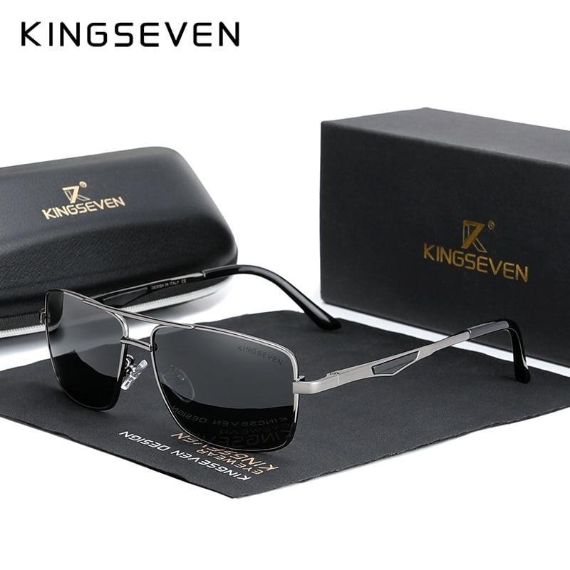KINGSEVEN 2020 Brand Classic Square Polarized Sunglasses Men's Driving Male Sun Glasses Eyewear UV B