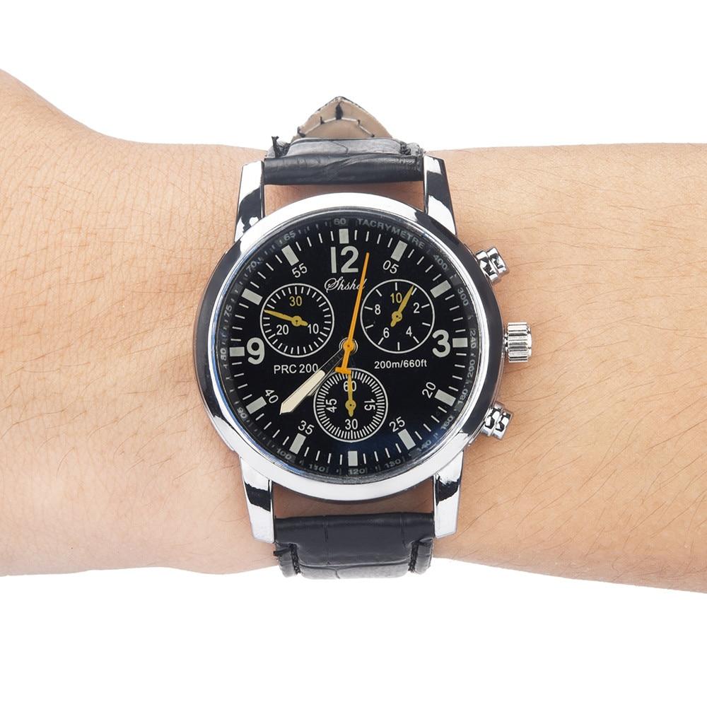 CURDDEN Watch Casual watch men Blue-ray glass neutral quartz simulates wrist epidermal Leather Strap