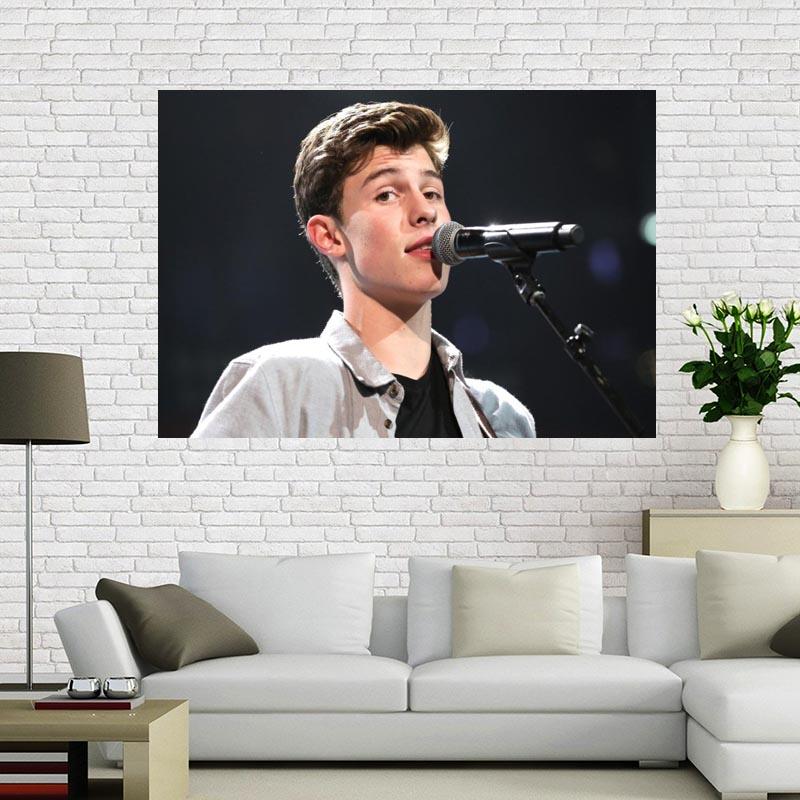 Póster personalizado sobre lienzo de Shawn Mendes, tejido decorativo para el hogar, póster de pared, estampado de tela seda 50x75cm60X90cm